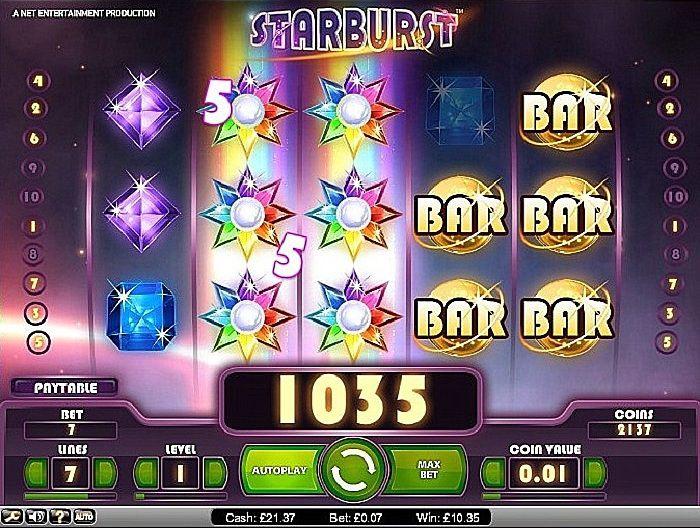 starburst игровой автомат играть